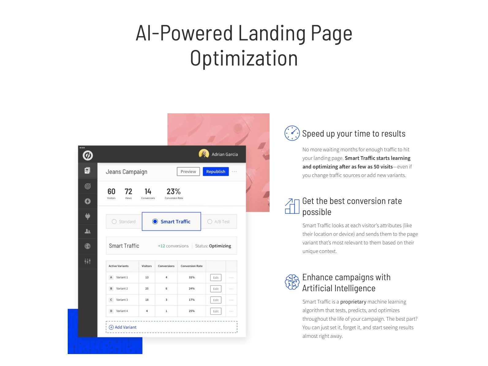 AI-Powered Landing Pages